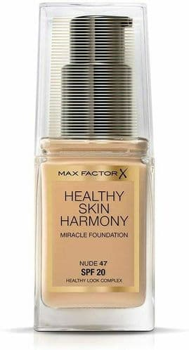 12 x Max Factor Healthy Skin Harmony Foundation | Nude 47 | RRP £180 | Full Size
